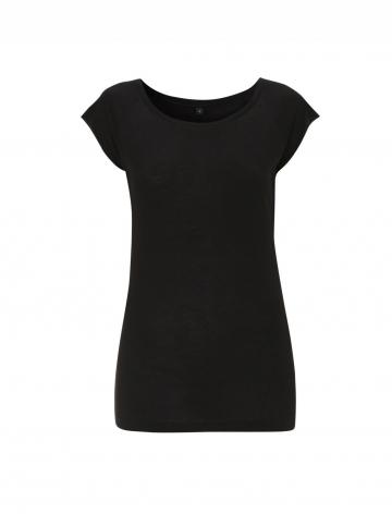 Dámské bambusové tričko, raglanový rukáv - černé, 1 ks - velikost XL