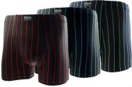 Bambusové boxerky Pesail JM005 - pruhované - 1ks, velikost L