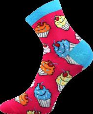Ponožky Cupcake - 1 pár, velikost 35-38