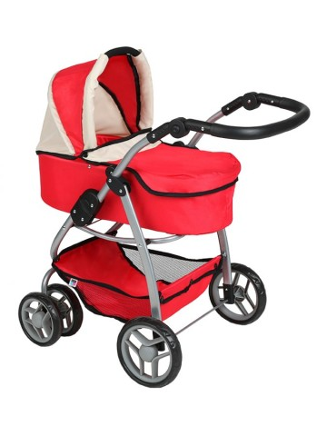 Multifunkčný kočík pre bábiky PlayTo Jasmínka červený