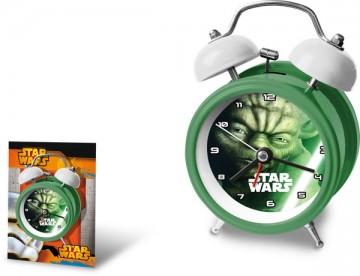Kovový budík Star Wars Yoda 9 cm