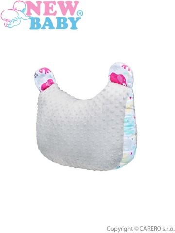 Multifunkční polštář z Minky New Baby bílo-šedý 55x40 cm