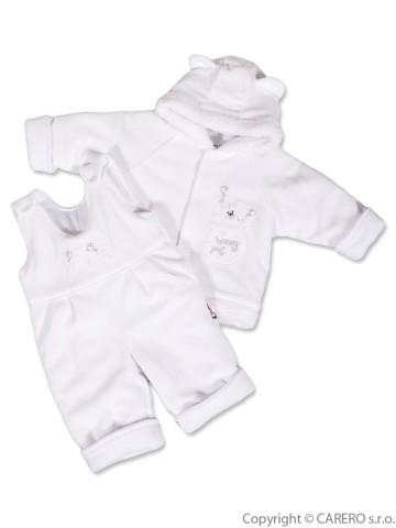 Dojčenská zimná súprava New Baby medvedík biela