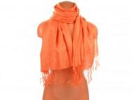 Šála vzorovaná, 70x180cm - oranžová