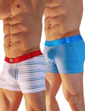 Pánské boxerky Xtremen 2 Pack-Cotton Boxer UV, Velikost oblečení L