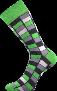 Ponožky Mozaika, zelené - 1 pár, velikost 39-42
