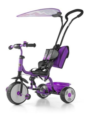 Detská trojkolka Milly Mally Boby Delux 2015 purple