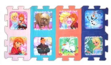 Pěnové puzzle Ledové Království 8ks 30x30 cm