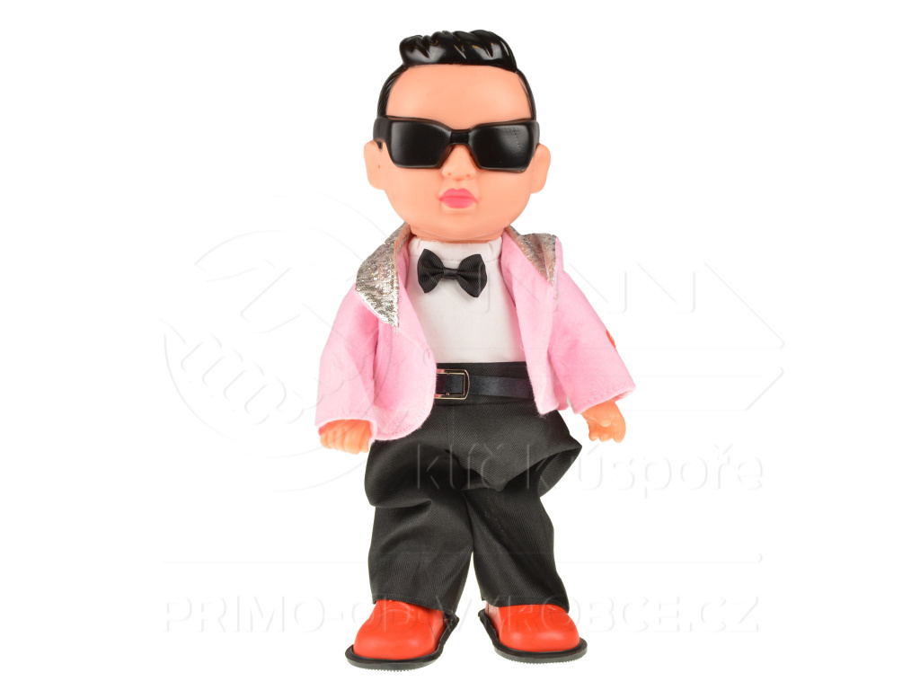 Panenka kluk Gangam style - růžový (32cm)
