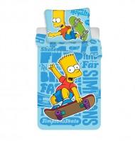 Povlečení Bart Simpson Blue 02 140/200, 70/90