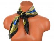 Malý šátek s koňáckým motivem, 55x55cm - černomodrý