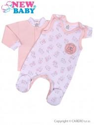 2-részes baba együttes New Baby Aranyos maci rózsaszín