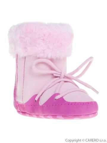 Dětské zimní capáčky Bobo Baby 12-18m růžové