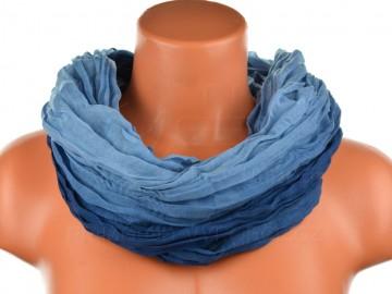 Eșarfă tunel pentru femei în nuanțele unei culori - albastru închis