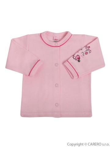 Dojčenský kabátik Bobas Fashion Benjamin ružový