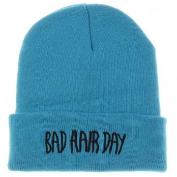 BAD HAIR DAY - Světle modrá + černý nápis