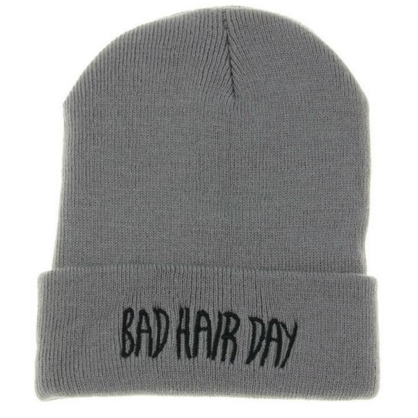 BAD HAIR DAY - Šedá + černý nápis