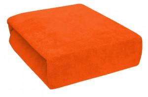 Froté jednolůžko - Sytě oranžové