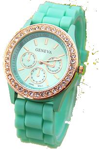 Geneva s kamínky světle zelené