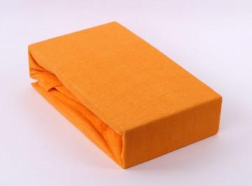 Froté jednolůžko - Oranžové