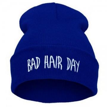 BAD HAIR DAY - Tmavě modrá + bílý nápis
