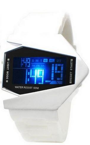 Bílé LED hodinky