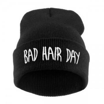 BAD HAIR DAY - Černá + bílý nápis