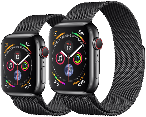 Chytré hodinky Apple Watch Series 5 a Apple Watch Series 4