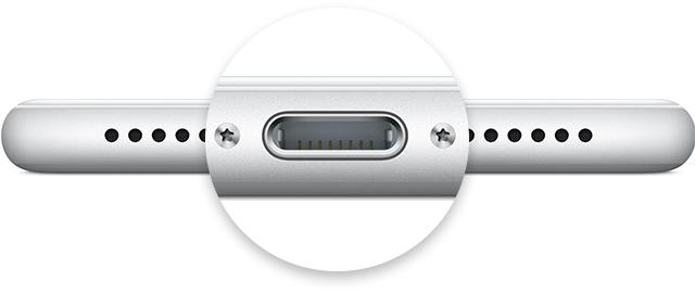 Konektor Apple Lightning 8 pin na iPhonu. Co dělat, když se iPhone nechce nabíjet a nereaguje?