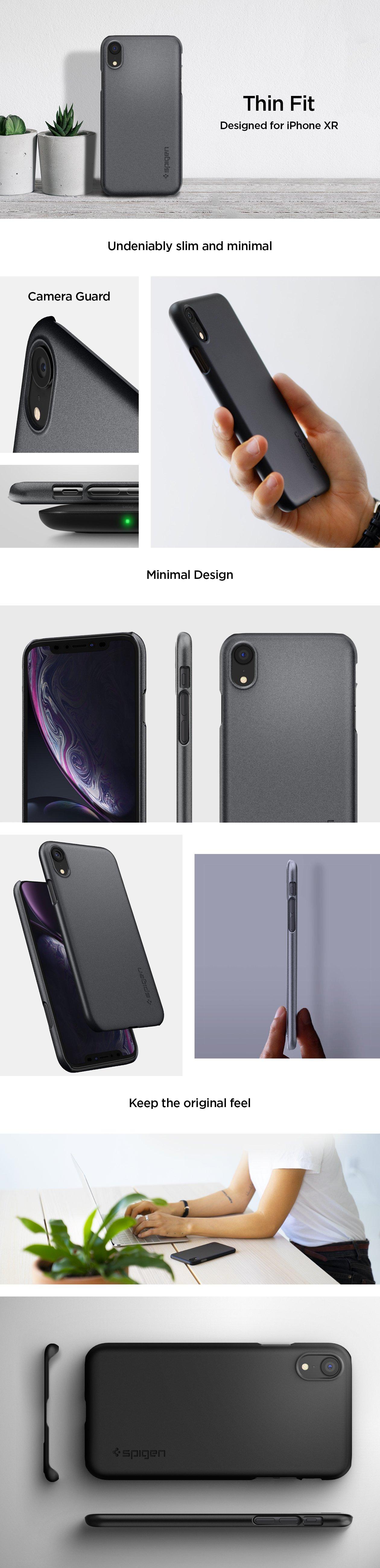 Ochranný kryt / obal / pouzdro Spigen Thin Fit na Apple iPhone XR nejlevněji, originál, imore.cz.