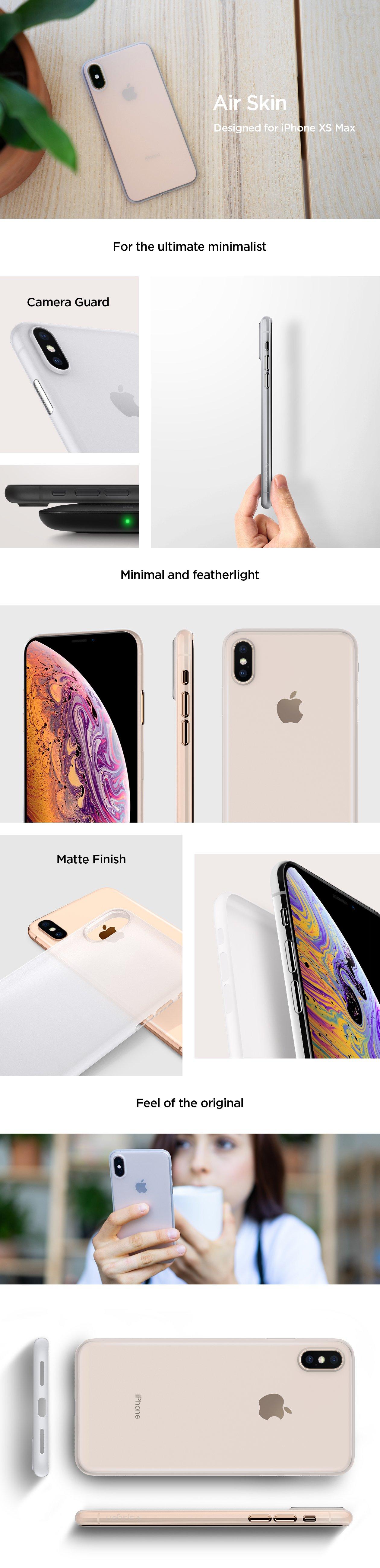 Obal, kryt, pouzdro Spigen Air Skin na Apple iPhone XS MAX