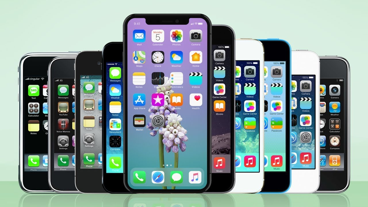 Rodina všech mobilních telefonů Apple iPhone