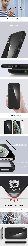 Vlastnosti obalu, krytu a pouzdra Spigen Ultra Hybrid 360 pro Apple iPhone XR.
