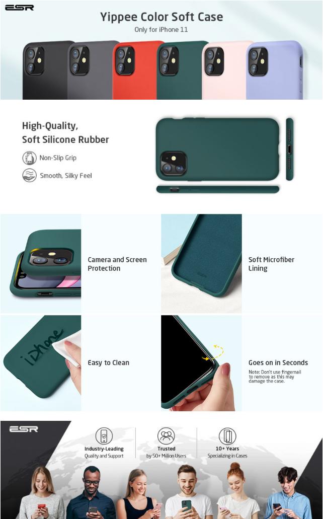 Silikonový kryt / obal / pouzdro ESR Yippe na Apple iPhone 11