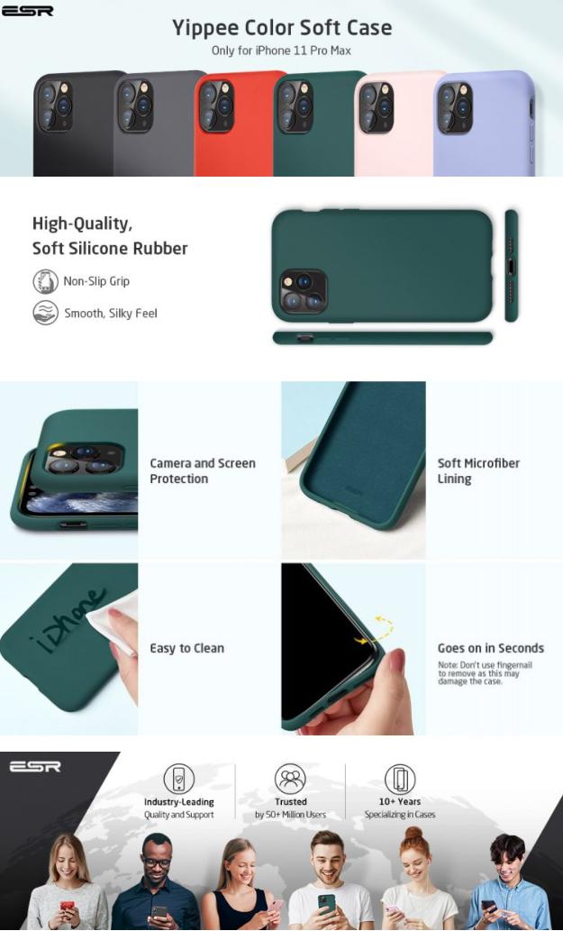 Silikonový kryt / obal / pouzdro ESR Yippe na Apple iPhone 11 Pro