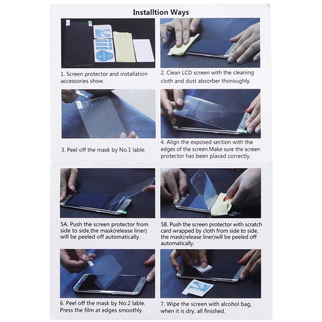 3D fólie na celý displej CLEAR pro Galaxy S7 (set 2ks)