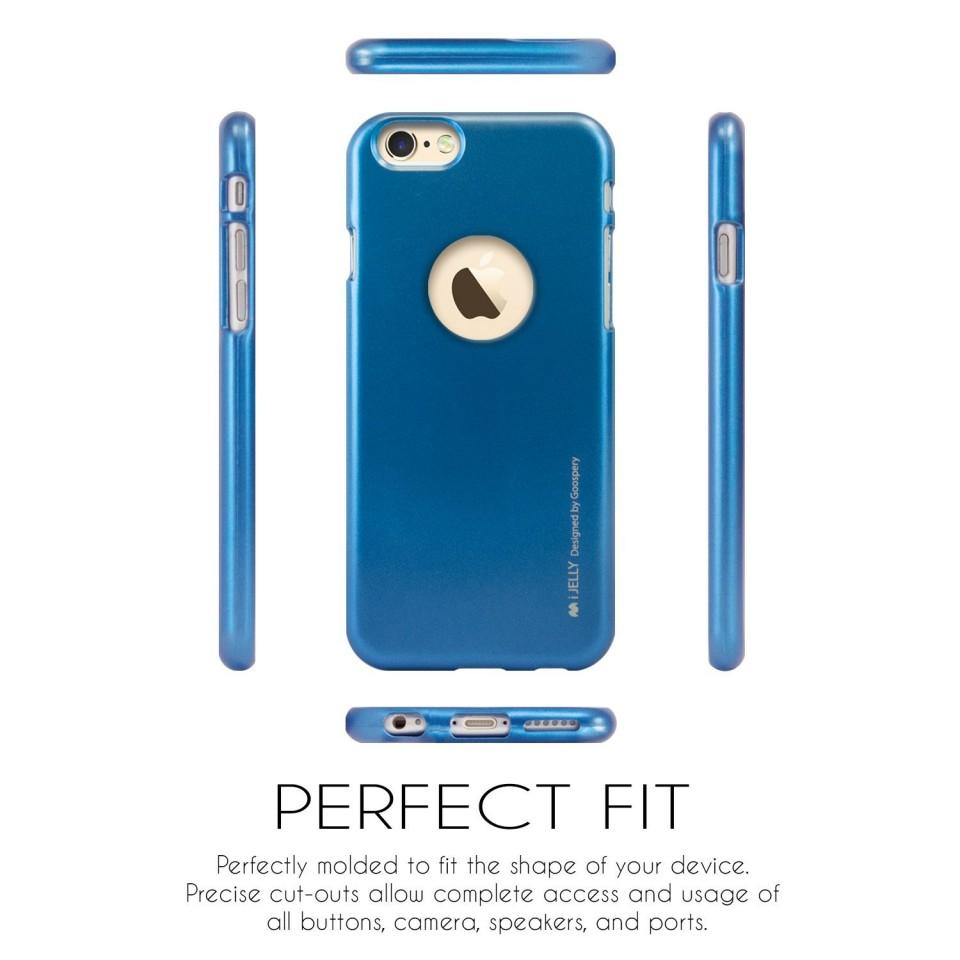 Silikonový obal / kryt iJelly Metal Goospery Mercury Apple iPhone 6s/6