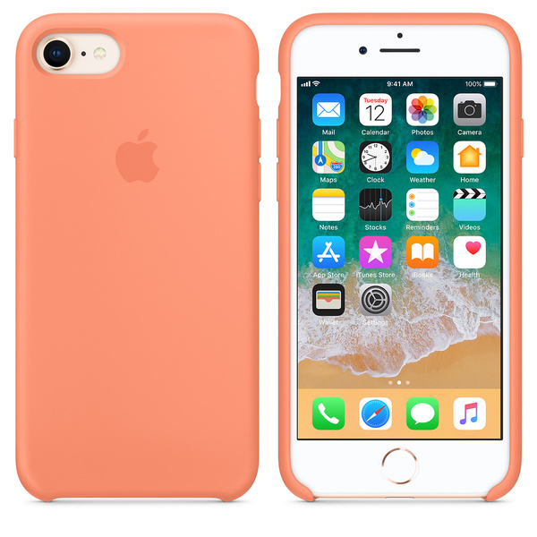 Silikonový kryt Apple Silicone Case na iPhone 8 / 7 - Peach