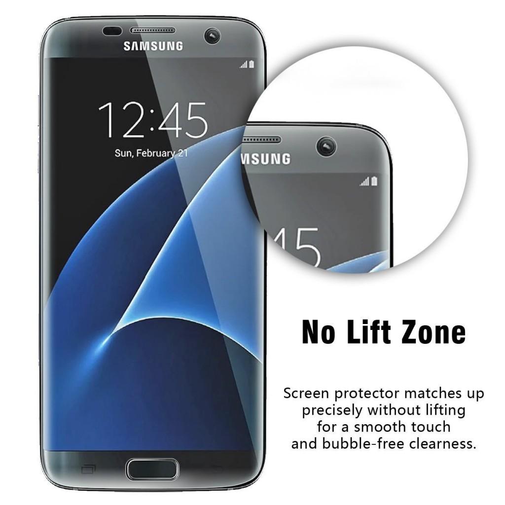 3D fólie na celý displej CLEAR pro Samsung Galaxy S7 Edge (set 2ks)