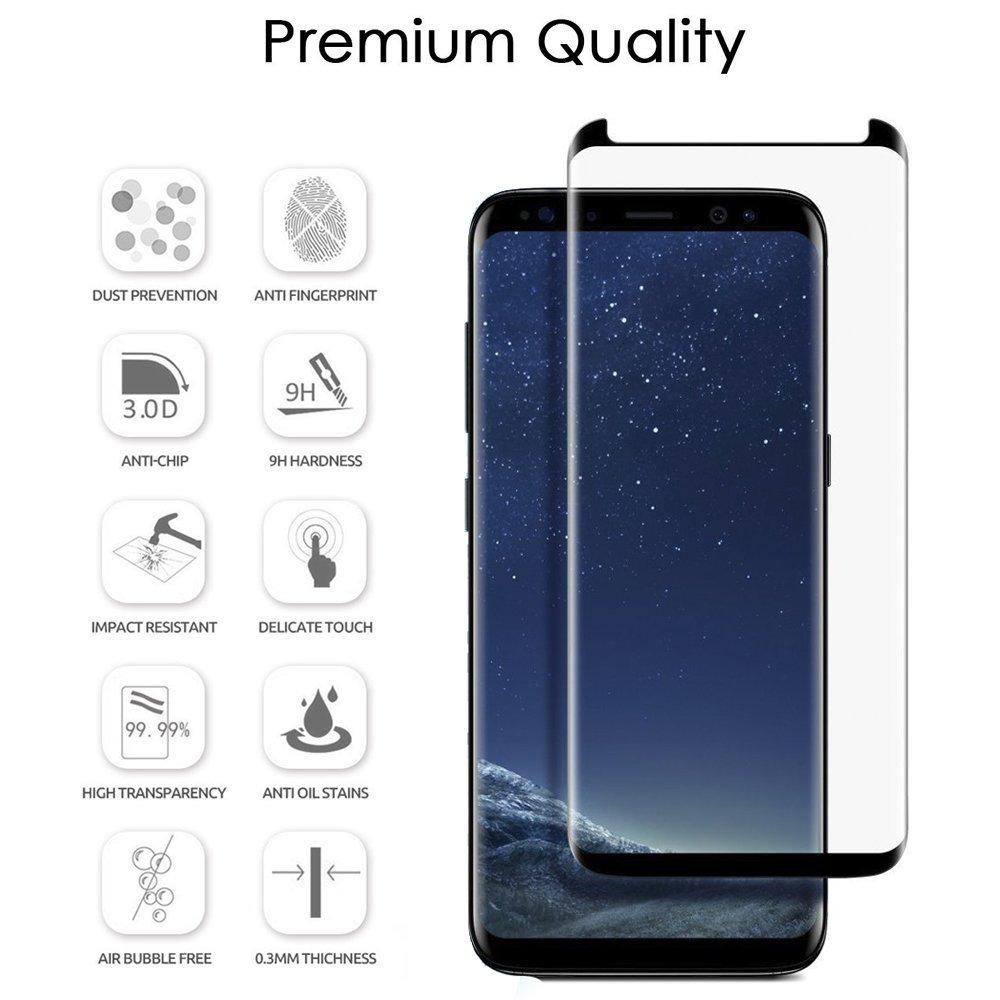 3D Ochranné sklo CASE FRIENDLY na celý displej pro Samsung Galaxy S8