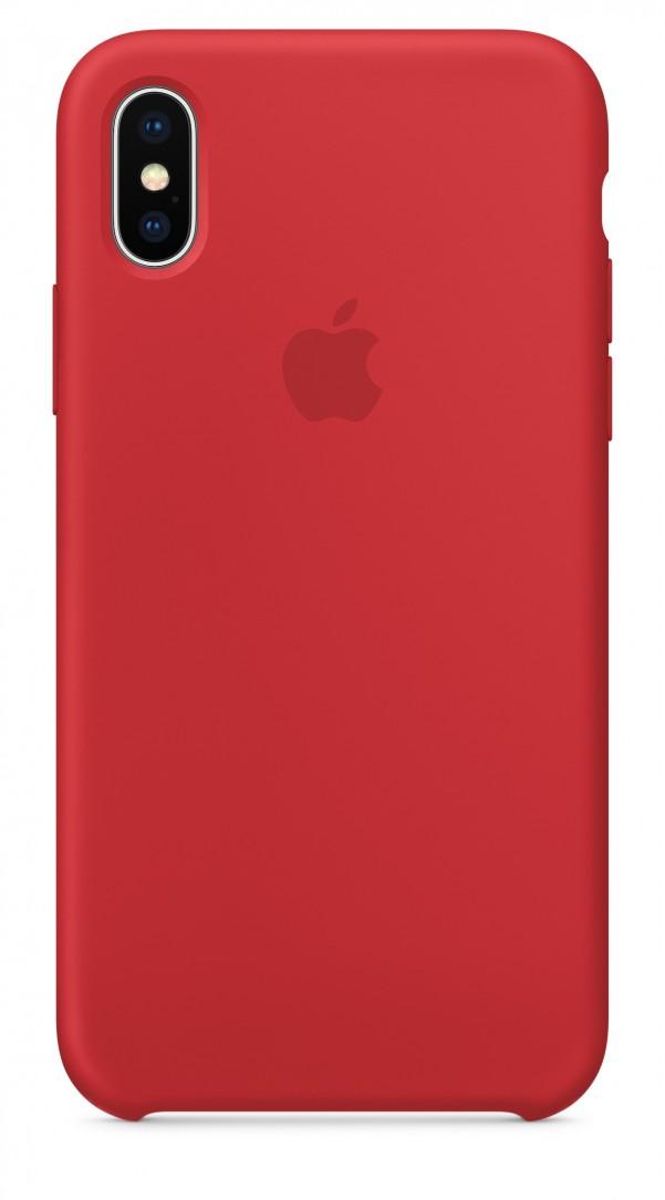 Originální silikonový kryt Apple iPhone X - Červený