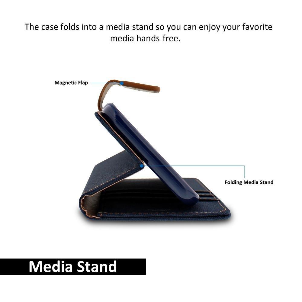 Pouzdro Kabura Canvas Book pro Apple iPhone 8 Plus / 7 Plus