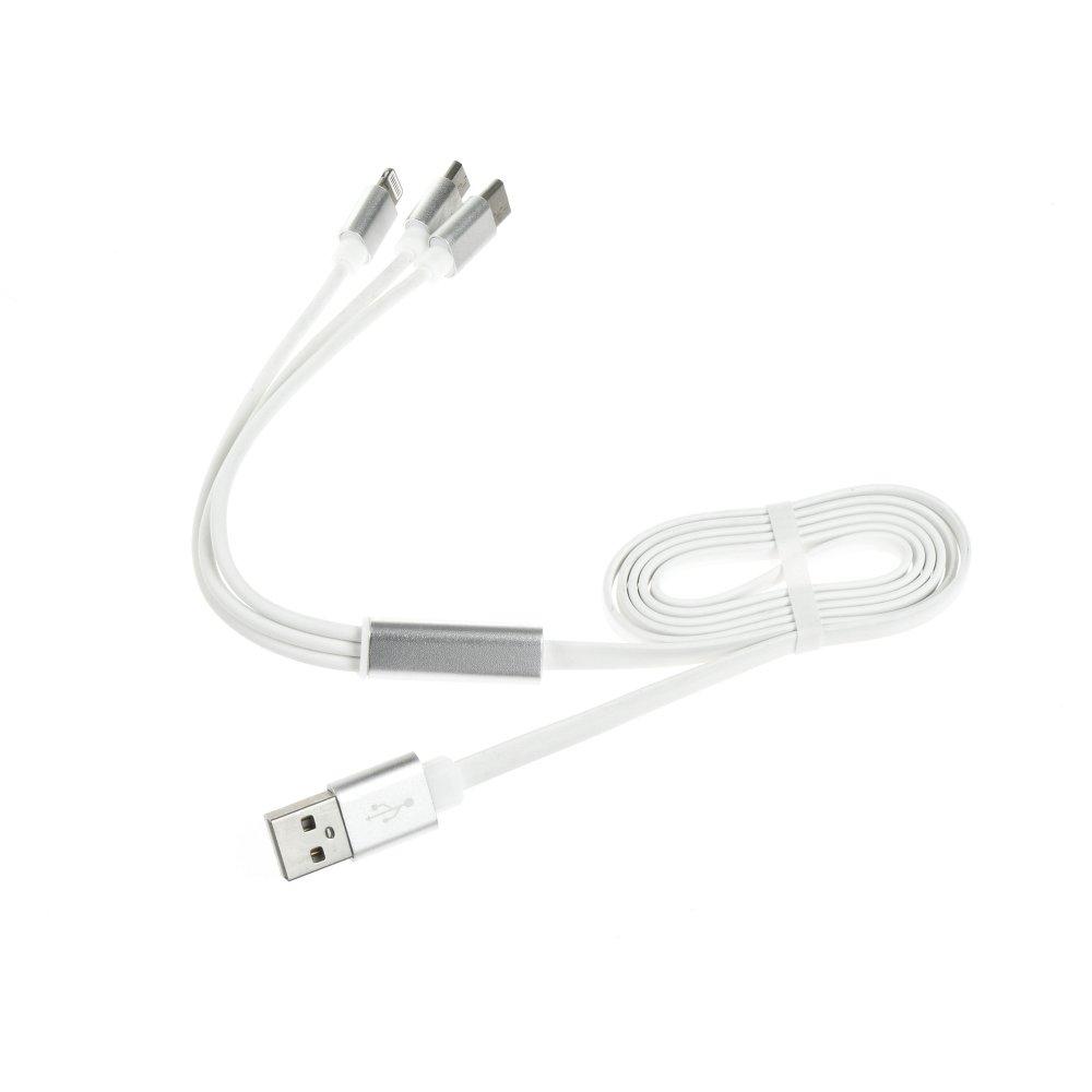 Univerzální kabel Noodle 3v1 s Lightning, micro USB a Type-C