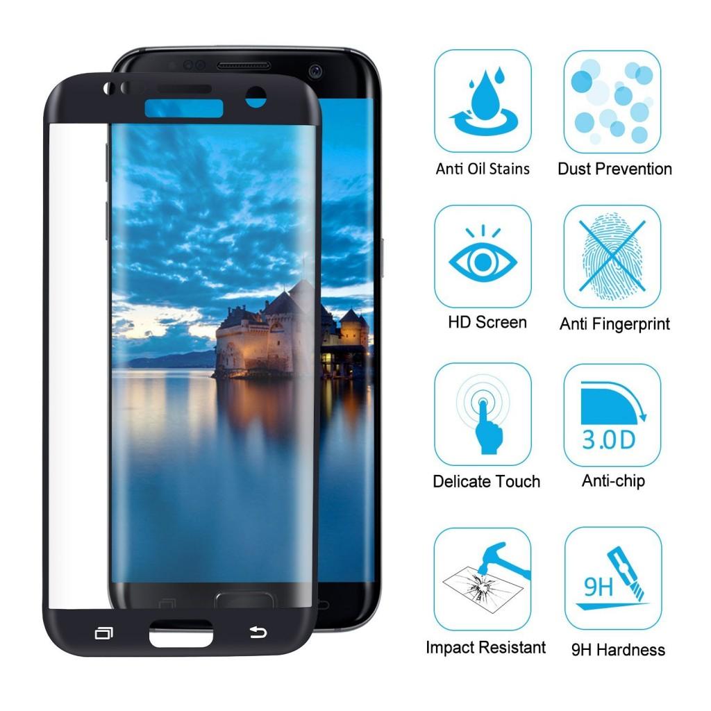 3D Tvrzené sklo 9H na celý displej pro Samsung Galaxy S7 Edge