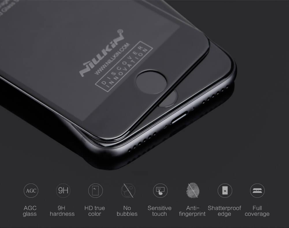 Ochranné tvrzené sklo Nillkin 3D CP+ MAX na Apple iPhone 8 Plus / 7 Plus