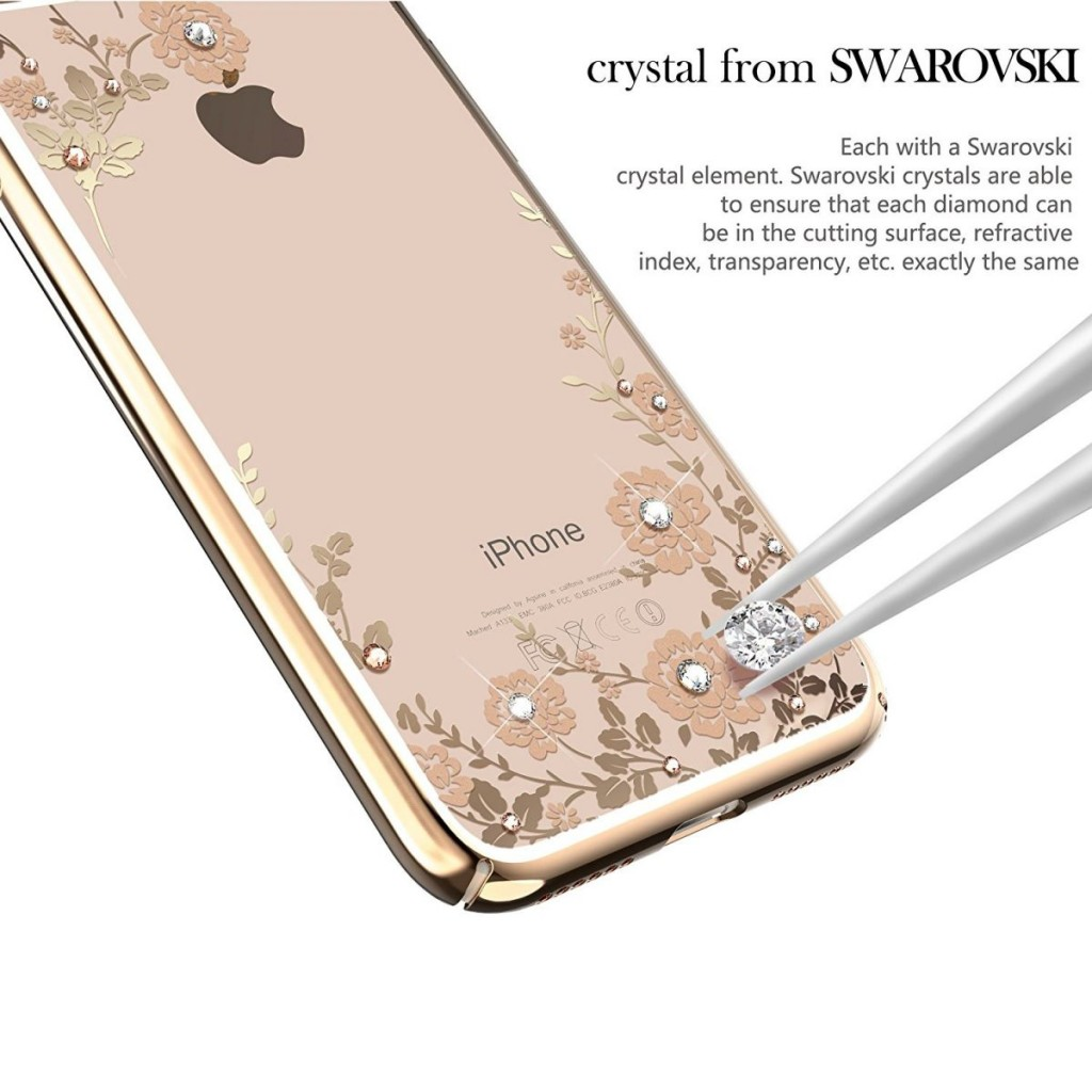 Obal / kryt Crystal Flowers pro iPhone 7 Plus