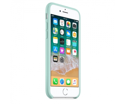 Silikonový kryt Apple Silicone Case na iPhone 8 / 7 - Brčálově zelený