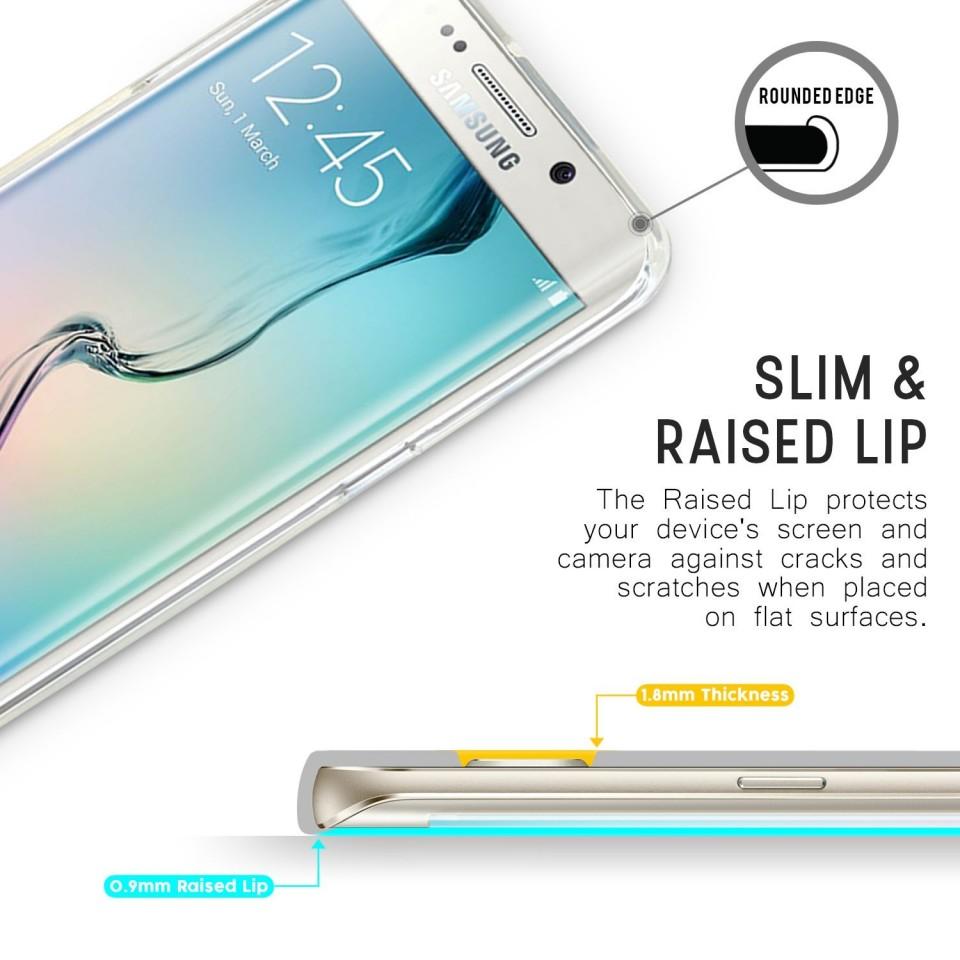Silikonový obal / kryt Goospery Mercury pro Samsung Galaxy S6 Edge, čirý