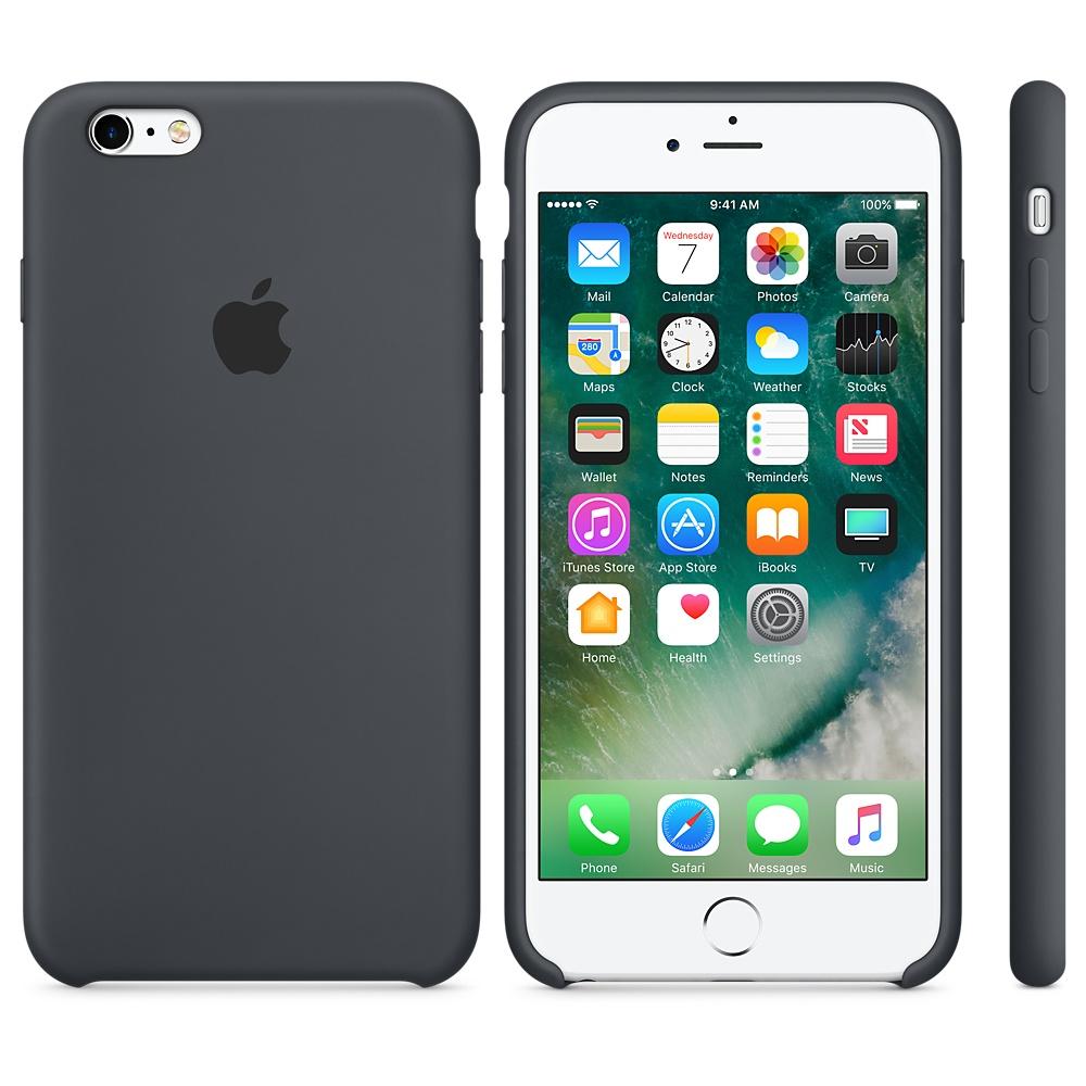 Originální silikonový kryt Apple iPhone 6s Plus / 6 Plus - Uhlově šedé