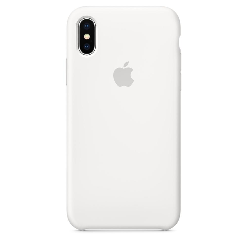 Originální silikonový kryt na Apple iPhone X - Bílý